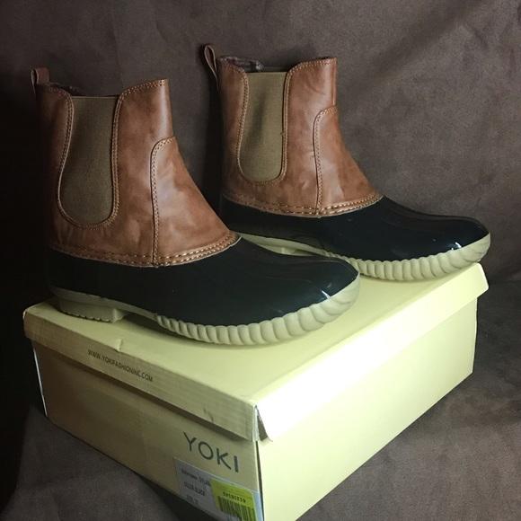 e337bfc8c48f Yoki Dylan Duck Rain Boots size 10